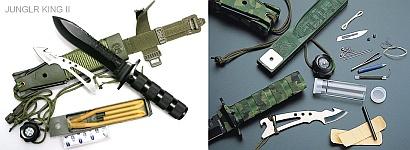 Ножи для выживания Jungle King II и Jungle King III испанской компании Aitor, состав набора выживания