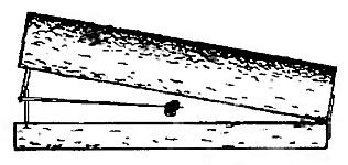 Давок верхняя плаха должен иметь вес, достаточный для быстрой гибели зверька, попавшего в плашку