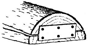 На противоположной от челака стороне плашки сделайте шарнир из прочного эластичного материала