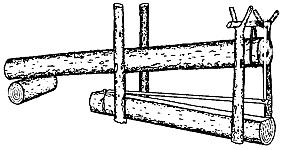 Установка и настройка деревянной ловушки кулемки для ловли диких животных на земле