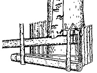 Деревянные ловушки кулемки можно устанавливать не только на деревьях, но и на земле