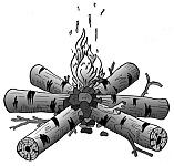 Костер для обогрева и ночевки, варианты костров для обогрева и ночевки, способы разведения и поддержания огня