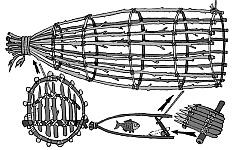 Простые ловушки на рыбу, изготовление простейшей верши, устройство загонов для ловли рыбы в экстремальной и аварийной ситуации