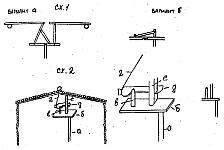 Настораживающиеся механизмы для крышки ямы-ловушки опирающиеся на подпорки ее крышки