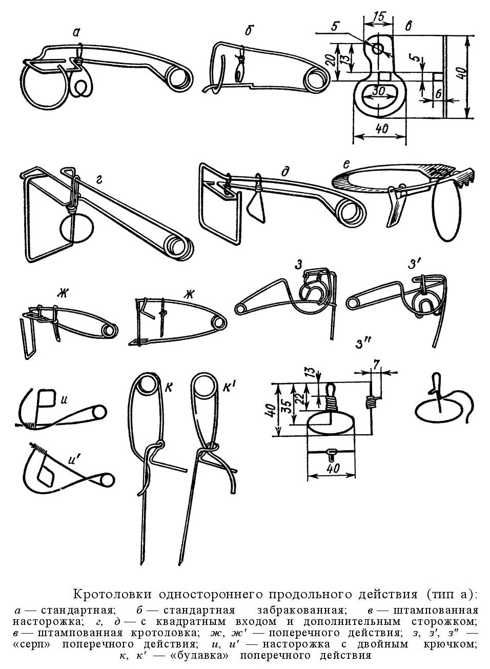 Кротоловка с крючками своими руками чертежи 56