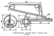 Кротоловка с продольной рамкой, устройство и изготовление, размеры и форма капкана на кротов