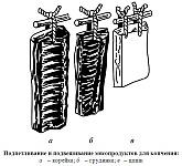 Подпетливание и подвешивание мясопродуктов для копчения, корейки, грудинки, шпика