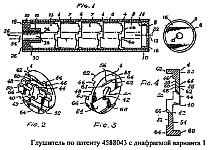 Конструкция, особенности и принцип работы глушителей звука выстрела по патенту США 4588043