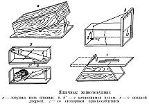 Деревянные живоловушки, назначение, устройство, принцип действия, изготовление, установка и настройка