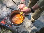 Как приготовить бограч на костре