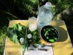 Для засолки свежих огурцов будет необходимы свежие листья и зелень, чеснок, соль