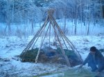 Выбор типа укрытия при вынужденной ночевке в полевых условиях
