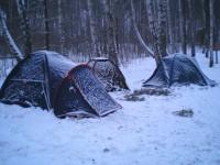 Постановка полевого лагеря на длительный срок, организация необходимых удобств и комфорта