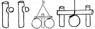 Спусковой механизм ловушки из одного или двух колышков
