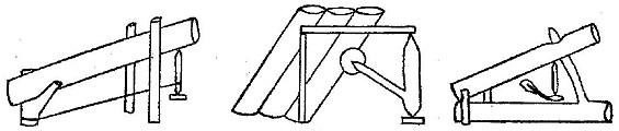 Спусковое устройство ловушки, в котором палочка-распорка работает на сжатие