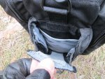 Боковые карманы сумки 5.11 Tactical Side Trip Briefcase имеют ту же систему открытия
