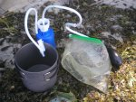 Нестандартное и альтернативное применение походного фильтра Аквафор Универсал для очистки воды в полевых условиях