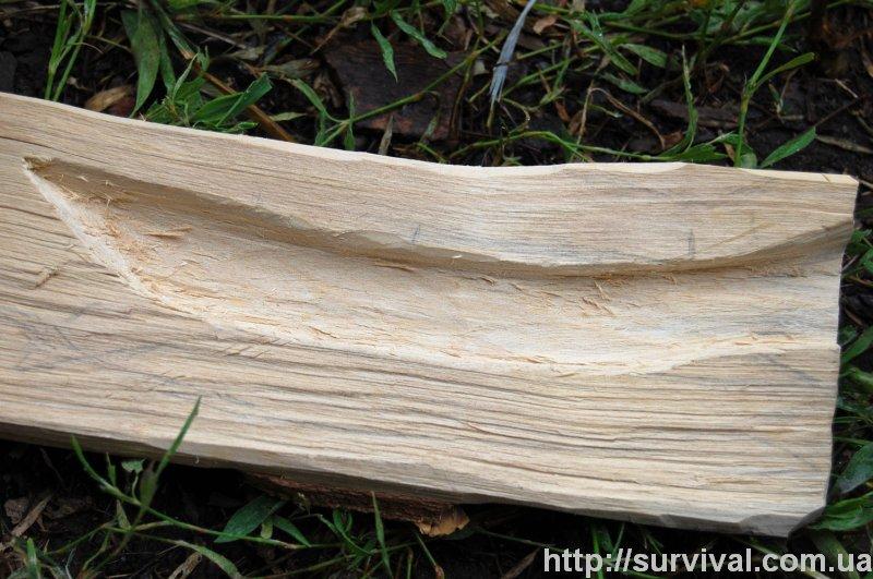 Изготовление ножа в полевых условиях из подручных материалов.