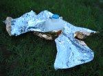 Сравнительные тесты на жару и холод спасательных покрывал, одеял Rettungsdecke от LEINA-WERKE и Tatonka