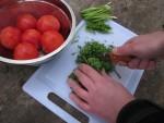 Нарезка петрушки для чахохбили ножом EKA Swede 9