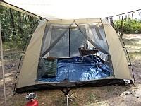 Что касается использования тента-палатки Cook Room в качестве спального помещения, то четыре человека вместе с вещами внутри располагаются очень комфортно