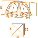 Тент-палатка Cook Room имеет два входа и два боковых окна, которые закрываются москитной сеткой и встроенными водонепроницаемыми стенками-шторами