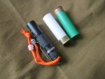 Диффузор, рассеиватель света, для фонаря Fenix LD09 из пластиковой охотничьей гильзы 12 калибра, самодельный светорассеиватель для фонаря