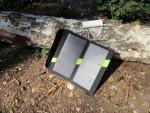 Зарядка аккумуляторов 18650 через Soshine E4 от солнечной батареи