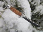 Туристический нож Финка-2 от Златоуст АиР, сталь 95х18, рукоять береста, фотографии, краткий обзор