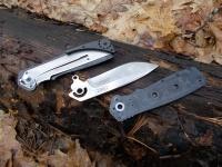 Разборка складного ножа CRKT Homefront EDC производится в обратной последовательности