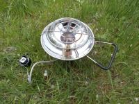 Использование инфракрасного газового обогревателя Kovea Fireball KH-0710 как горелки для подогрева или приготовления пищи