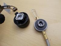 С помощью входящего в комплект переходника Kovea КА-9504 может использовать и газовые баллоны с соединением цангового типа