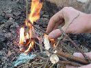 Добыча и разведение огня химическим способом, с помощью марганцовки и глицерина, в полевых и походных условиях
