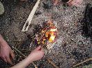 Добыча и разведение огня химическим способом, с помощью марганцовки и сахара, в полевых и походных условиях