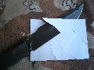 С магазина нож Орлан-2 заточен до состояния режет бумагу