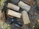 Изготовление индейской свечи, деревянного примуса, финской свечки, разжигаем и регулируем пламя индейской свечи, горение деревянного примуса, описание, обзор и тест