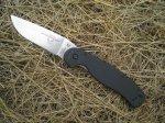 Клинок ножа Ontario RAT Folder Model 1 классической, практичной формы, без фальшлезвия