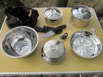 ���� ���������� � ����� ������ Primus CampFire Cookset S/S, ����� � ������ GSI Glacier Stainless Tea Kettle