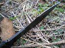На клинке ножа Стервец присутствует выточка в четыре сантиметра