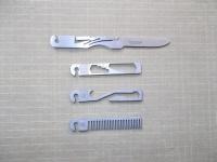 Будут рассмотрены четыре мини инструмента Stowaway Tools, складной нож, держатель бит с открывалкой для бутылок, гаечный ключ и расческа