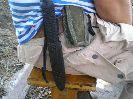 При креплении на поясе и поясном ремне нож Стрела с нынешними ножнами скорее всего потеряется