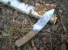 Длины клинка ножа Терек-2 вполне хватает, при работе с дерева не соскакивает