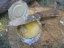 При открытии консервы ножом Терек-2 опять вылезла в минуса его ширина клинка