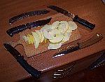 тест ножей по яблоку