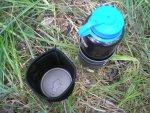 Дополнения в походный набор посуды из бутылки Nalgene, кружки Primus TiTech и ложки Ferrino Titanium Spoon, бутылка CamelBak All Clear, обзор