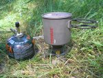 Кружка Primus TiTech Pots с газовой горелкой Primus Express Spider