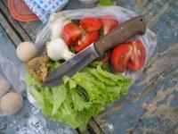Полевой тест туристического ножа Варан по продуктам