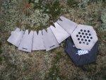 Компактная складная походная дровяная печь Vargo Hexagon Backpacking Wood Stove из титана, характеристики, описание, обзор и рабочие качества