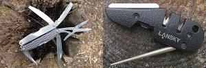 Инструмент и точилки, пила, топор, мультитул, заточка ножей в поле