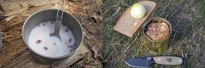 Продукты и рецепты блюд для похода, приготовление пищи в казане на костре и горелке